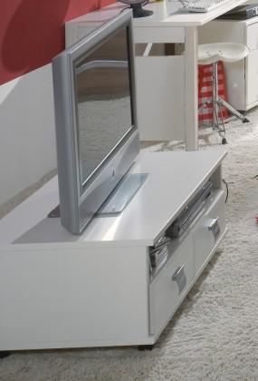 Detský TV stolík Jette - 320409 (alpská biela)