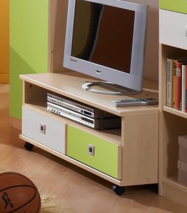 Detský TV stolík Sunny - TV stolík (zelené jablko/alpská biela)