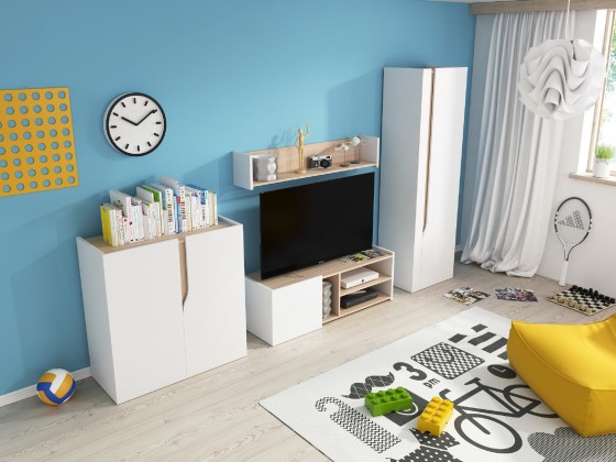 Detský TV stolík TV stolík + polička Bubu