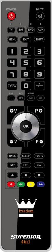 Diaľkové ovládače Diaľkový ovládač FREEDOM SUPERIOR 4-IN-1