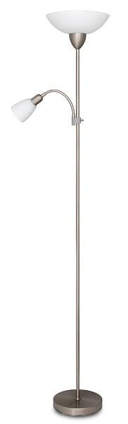 Diana - Lampa, E27 (hodvábne lesklá chromová/biela)