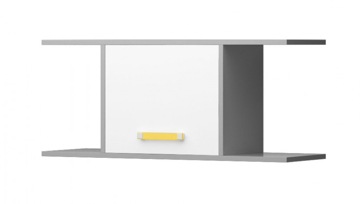Diego 15 - Police (predná strana biela/sivé boky/žltý úchyt)