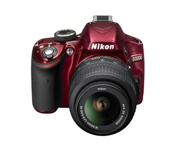 Digitálna zrkadlovka Nikon D3200 Red + 18-55 AF-S DX VR II