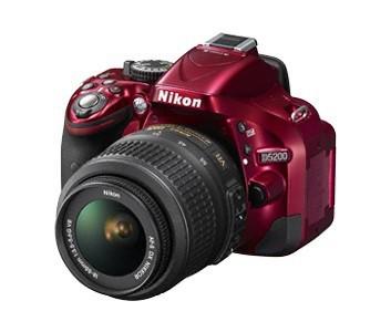 Digitálna zrkadlovka Nikon D5200 Red + 18-55 AF-S DX VR II