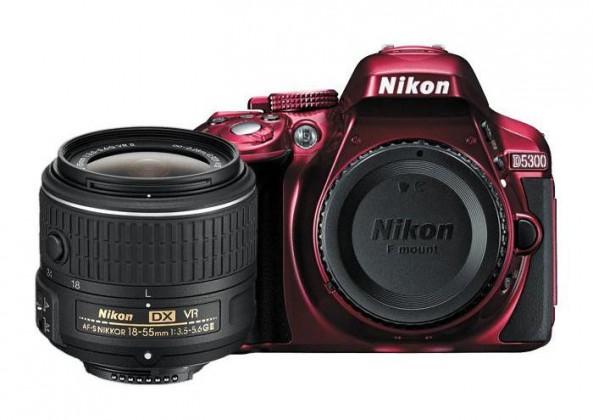 Digitálna zrkadlovka Nikon D5300 Red + 18-55 AF-S DX VR II