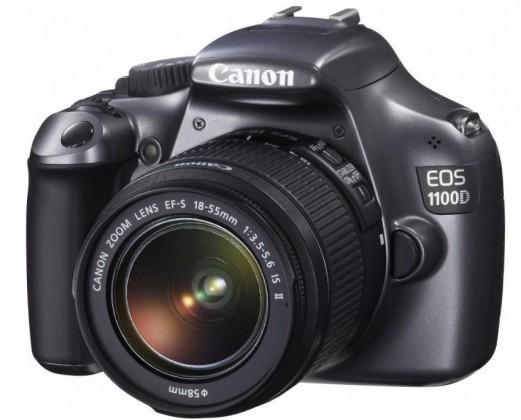 Digitálne fotoaparáty  Canon EOS 1100D Black + EF 18-55 DC III