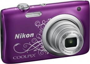 Digitálny fotoaparát Nikon Coolpix A100, fialová art