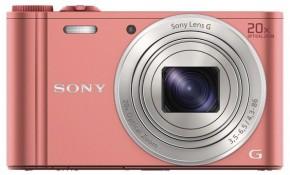 Digitálny fotoaparát Sony Cybershot DSC-WX350, ružová