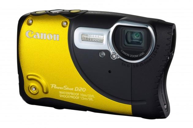 Digitálny kompakt  Canon PowerShot D20 Yellow
