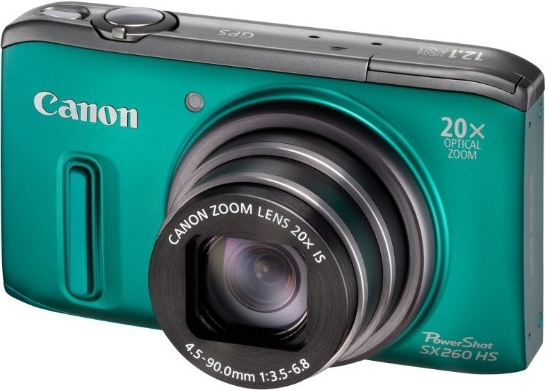 Digitálny kompakt  Canon POWERSHOT SX 260 HS Green