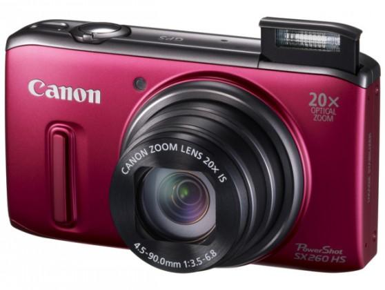 Digitálny kompakt  Canon POWERSHOT SX 260 HS Red