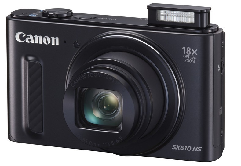 Digitálny kompakt Canon PowerShot SX 610 HS, 20.2Mpix, 18x zoom, Wi-Fi - Černý