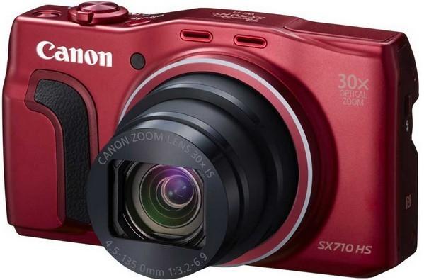 Digitálny kompakt Canon PowerShot SX 710 HS, 20.3MPix, 30x zoom, Wi-Fi - Červený