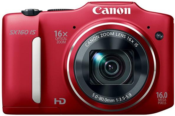 Digitálny kompakt  Canon POWERSHOT SX160 IS Red