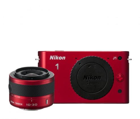 Digitálny kompakt  Nikon 1 J1 + 10-30 VR Red