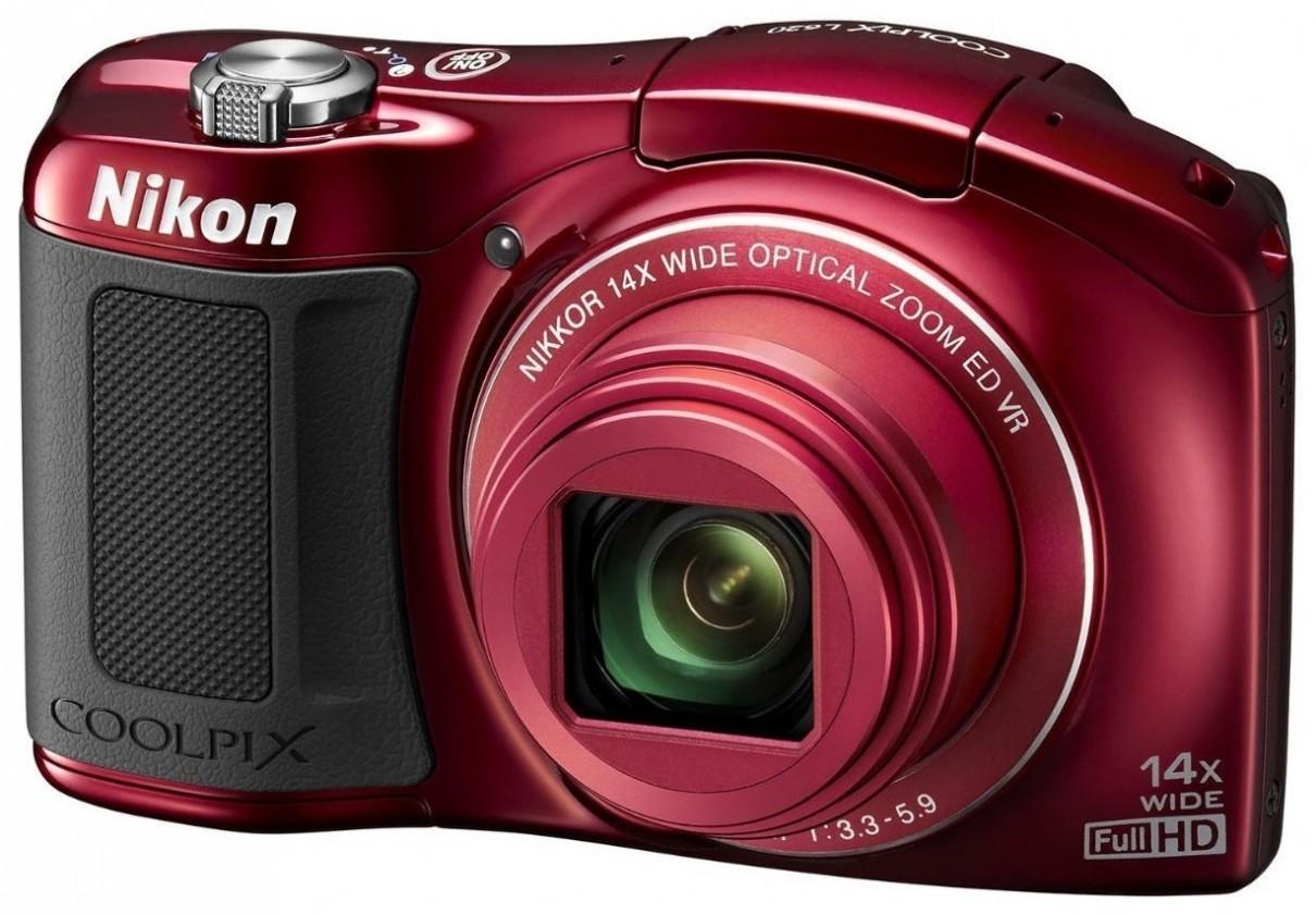 Digitálny kompakt  Nikon Coolpix L620  Red