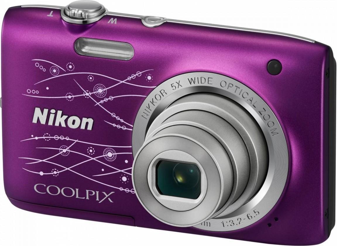 Digitálny kompakt  Nikon Coolpix S2800 Purple Lineart