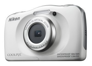 Digitálny kompakt Nikon COOLPIX S33 white backpack kit