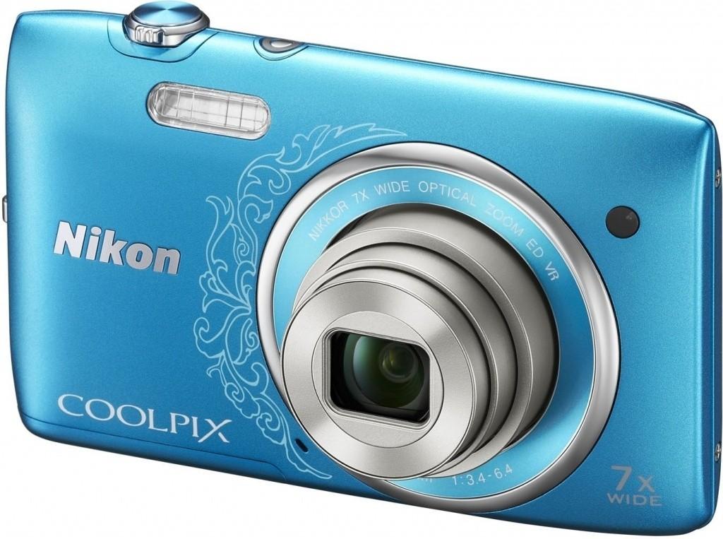 Digitálny kompakt  Nikon Coolpix S3500 Blue Art