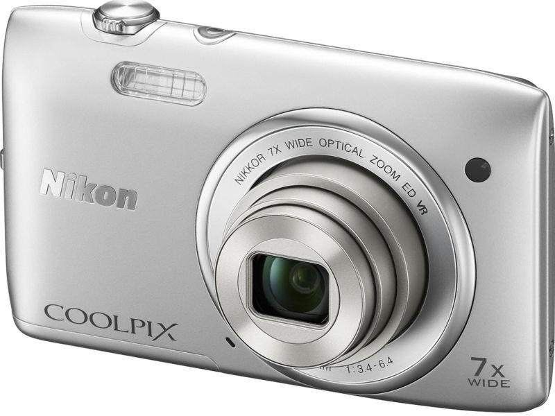 Digitálny kompakt  Nikon Coolpix S3500 Silver
