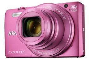 Digitálny kompakt Nikon COOLPIX S7000 pink + puzdro + 8 GB SD card ROZBALENÉ
