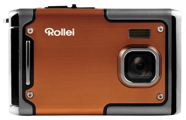 Digitálny kompakt Rollei Sportsline 85 outdoor sportovní kamera, oranžová POUŽITÝ,