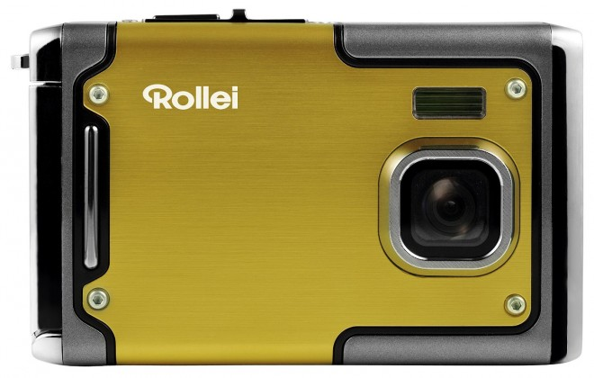 Digitálny kompakt Rollei Sportsline 85 outdoor sportovní kamera, žltá