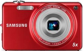 Digitálny kompakt Samsung EC-ST65, červený