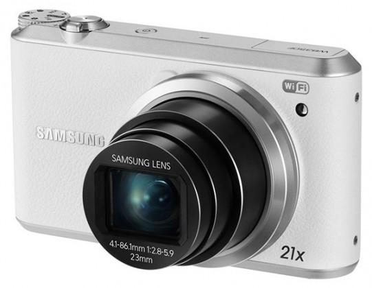 Digitálny kompakt Samsung WB350F, biely