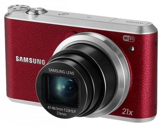 Digitálny kompakt Samsung WB350F, červený