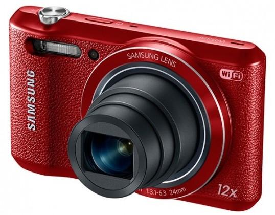 Digitálny kompakt Samsung WB35F, červený
