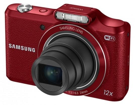 Digitálny kompakt Samsung WB50F, červený