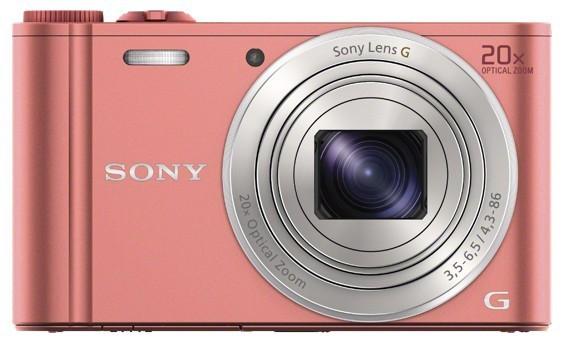 Digitálny kompakt Sony CyberShot DSC-WX350 ružový