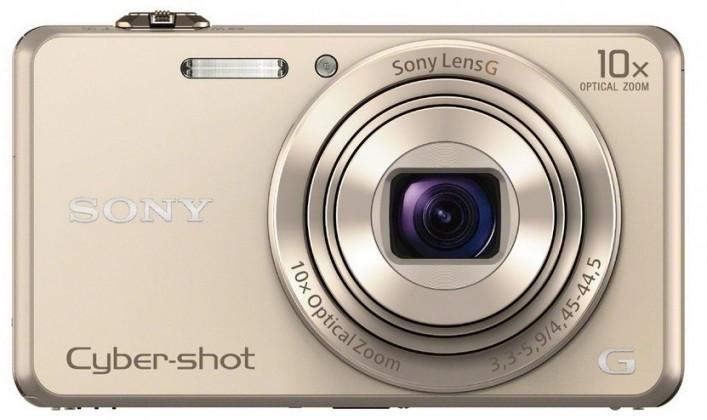 Digitálny kompakt Sony DSC-WX220 zlatá,18,2Mpix,10xOZ,fullHD,WiFi zlatá