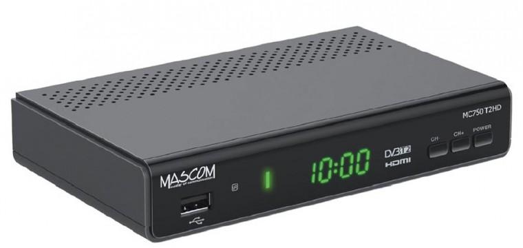 Digitálny príjem ZLACNENÉ Mascom MC750T2 ROZBALENÉ