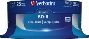 Disk Verbatim BD-R, Single Layer 25GB, 6x, 25 kusov 43837