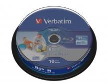 Disk Verbatim BD-R SL, 25GB, Pack Spindle, 6x, 10 kusov 43804