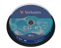 Disk Verbatim CD-R, 700MB, bez možnosti potlače, 10 ks 43437