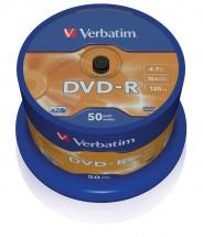 Disk Verbatim DVD-R, 4,7GB, bez možnosti potlače, 50 ks 43548