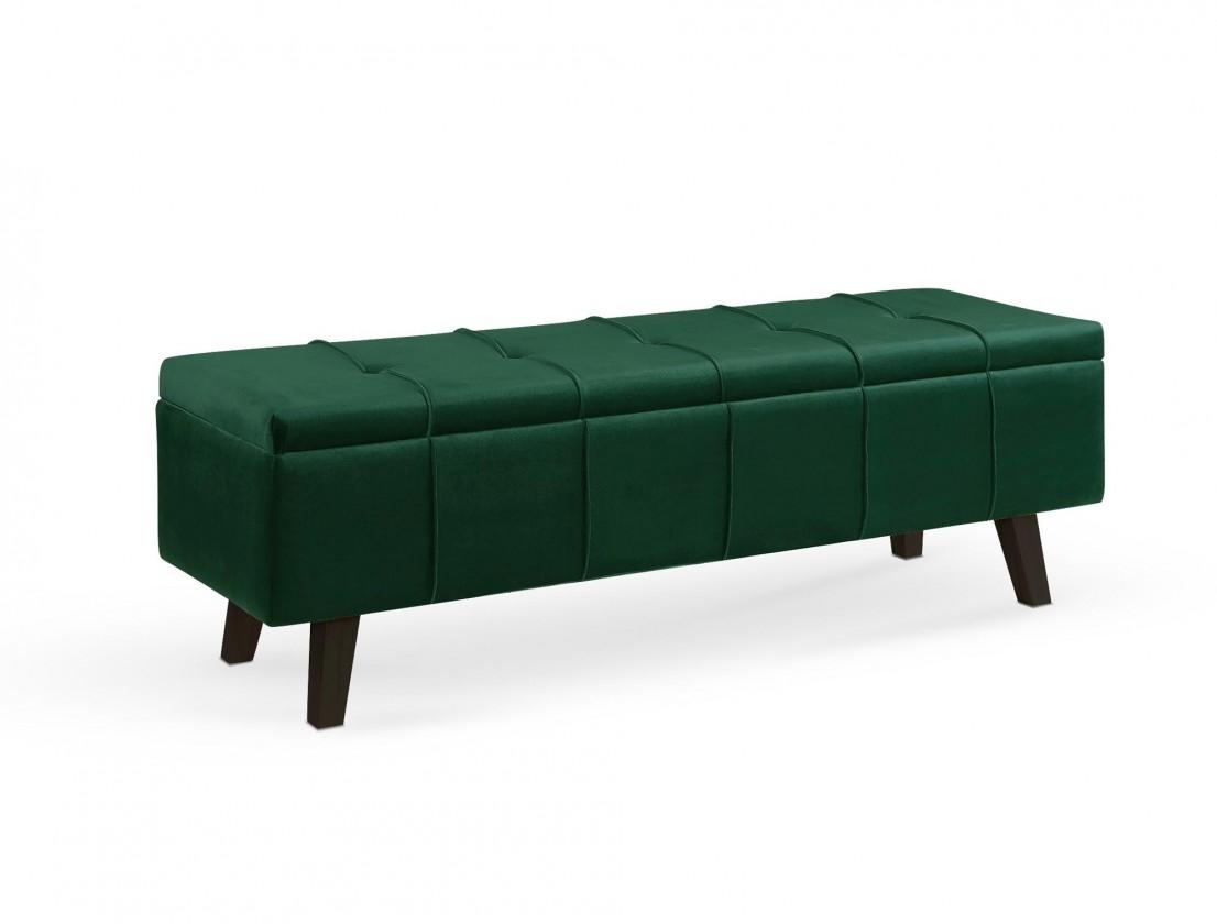 Dizajnové taburetky Taburetka Arlon obdĺžnik zelená ÚP (látka)