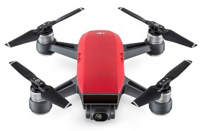 DJI Spark Fly More Combo, Lava Red, DJIS0203C