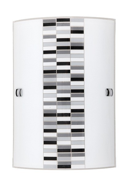 Domino - Nástenná svietidla, E27 (opálové sklo/čierna)