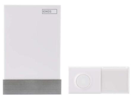 Domový bezdrôtový zvonček Emos P5726 AC, bezbatériové