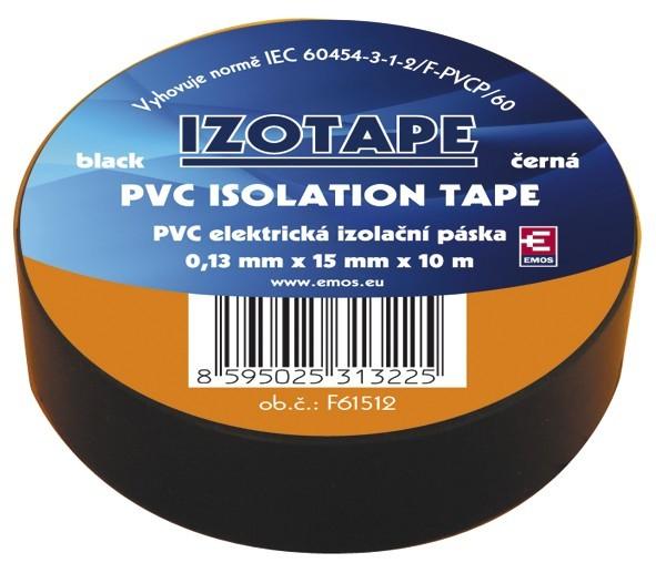 Doplnky Izolačná páska Emos F61512, 10m, čierna