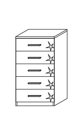 Doplnok Celle AP455.67B4 (dub sanremo svetlý/biela lesk)