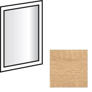 Doplnok Match Up - zrkadlo závesné, otočné (dub zdrsnený)