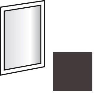 Doplnok Match Up - zrkadlo závesné, otočné (Lava)