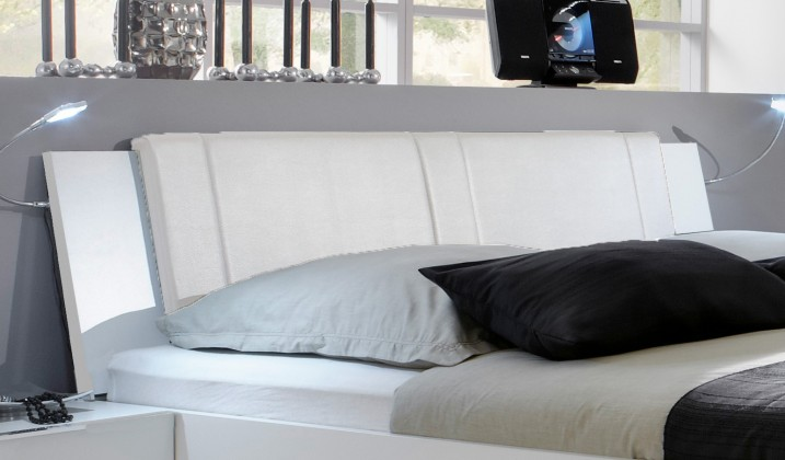 Doplnok Medina - Polstrované čelo na posteľ 160 cm (alpská biela)