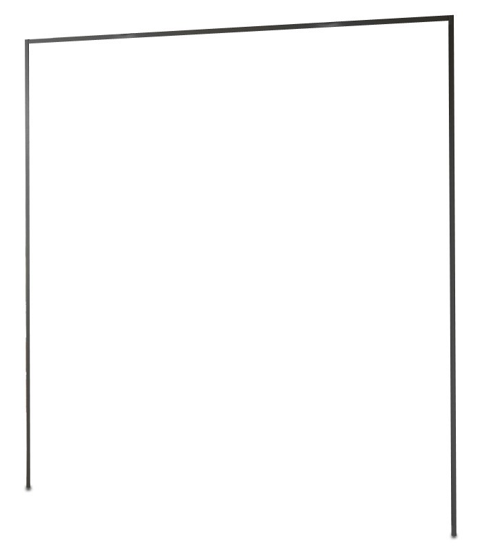 Doplnok Medina - Rímsa na šatníková skriňa 200 cm (lava čierna)