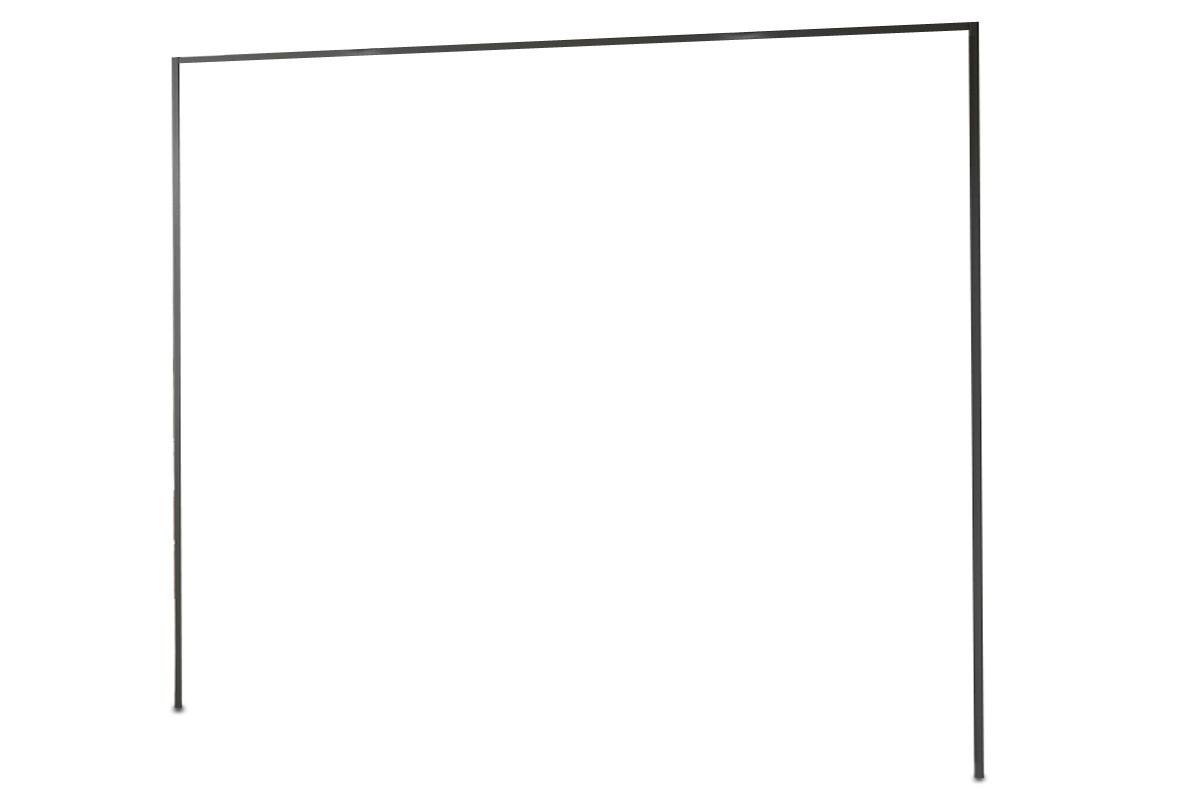 Doplnok Medina - Rímsa na šatníková skriňa 300 cm (lava čierna)
